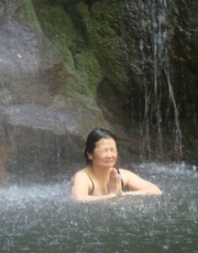 Toshiko in the Waterfall