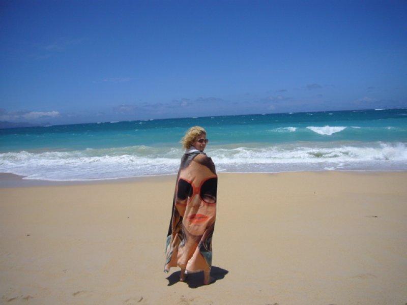Yvonne on the beach