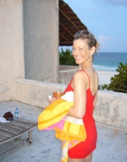 Elizabeth Happy in Tulum