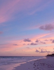 Tulum Beach Sunset