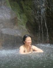 Toshiko in the Waterfall