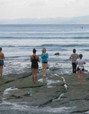 Retreat End Yoga on the Beach
