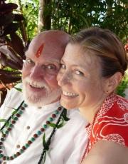 Ram Dass and Elizabeth 2010